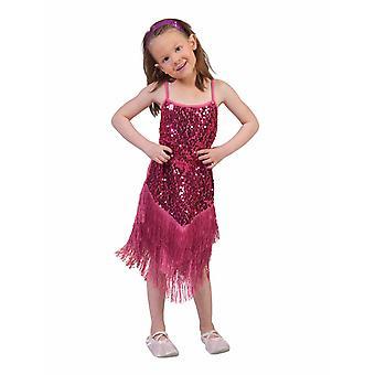 Fringie Flapper pink Girl Charleston Kleid rosa Kinderkostüm Mädchen 20er Jahre Kostüm