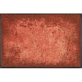 lavagem + Dry capacho máscaras de vermelho design capacho lavável sujeira esteira do corredor