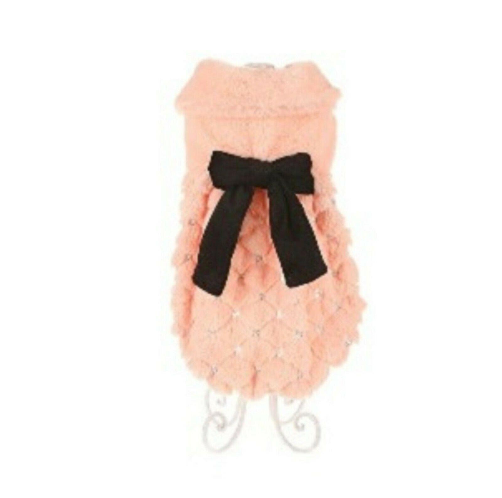 Couture Coral Diamante Dog Coat