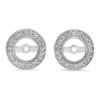 Dazzlingrock Collection 0,20 Carat (CTW) 10K rund hvid diamant aftagelige jakker til stud øreringe 1/5 CT, hvid guld