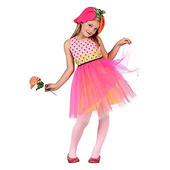 Kinder's Kostüme Blumenkleid 7-9 Jahre