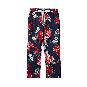 Joules Snooze Womens Woven Pyjama Bottoms - Navy Floral