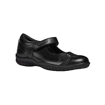 Geox J Shadow A Touch Girls Leather Fastening Shoe