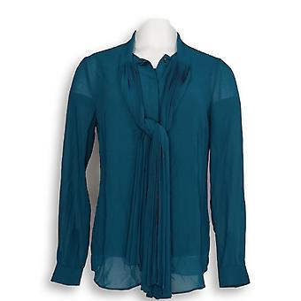 Dennis Basso Mujeres's Top Pleated Tie Blusa & Tanque Set Azul A297338