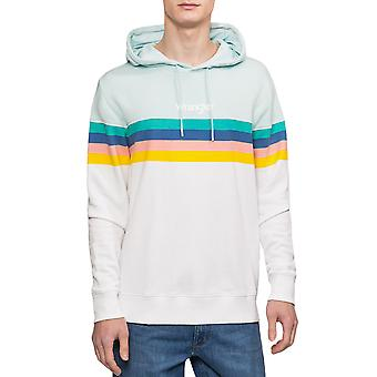Wrangler Mens Rainbow Long Sleeve Casual Cotton Pullover Hoody Hoodie Top White