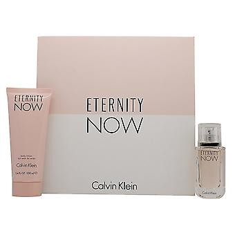 Calvin Klein evigheden nu For hendes gave sæt 50ml EDP Spray + 100ml bodylotion