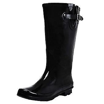 Onlineshoe Flat Wide Calf Wellie Wellington Festival Rain Boots - Assorted Colours