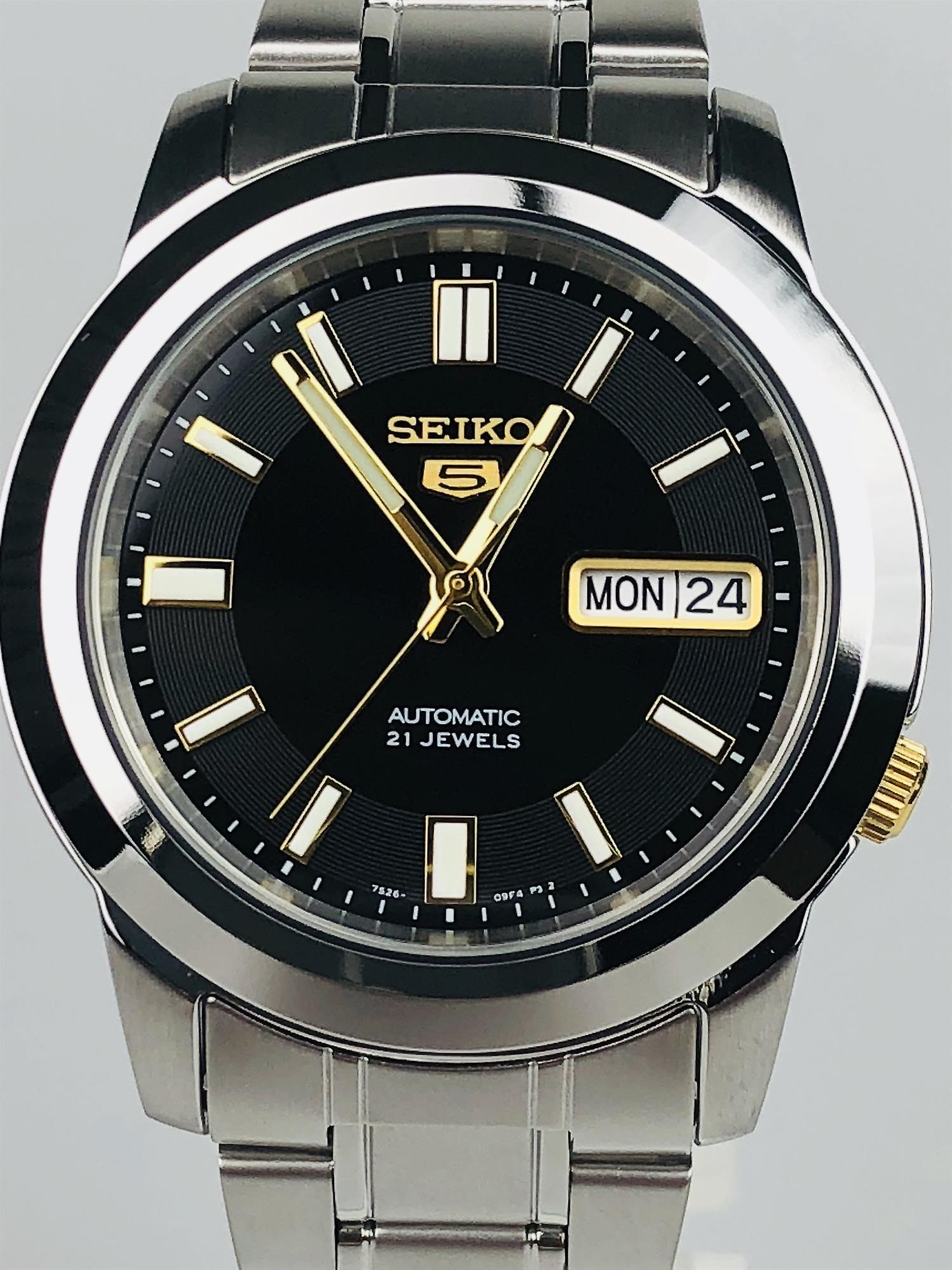 Seiko 5 Sports Automatic Silver Silver Stainless Steel Strap SNKK17K1 38mm