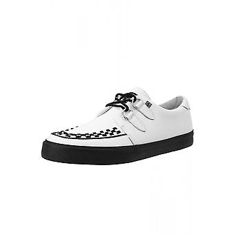TUK Shoes White Leather D-Ring VLK Creeper Sneaker