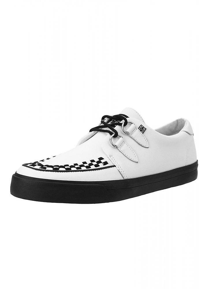 TUK buty białe skórzane D-Ring VLK Creeper Sneaker AlYvk