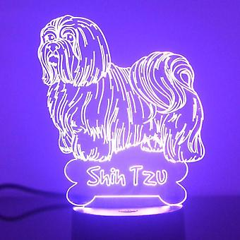 Shih Tzu Hund Farbwechsel LED Acryl Licht