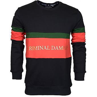 Criminal Damage Dolfo Cotton Sweat Black/gold