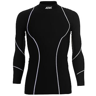 Atak Mens Gaelic Compression Top Long Sleeve Crew Neck