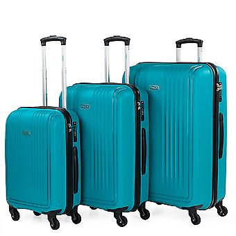 Set of 3 Wheeled Travel Cases From The Itaca Signature Made of Polypropylene Pp