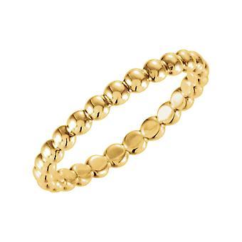 14 k Gelbgold 2,5 mm Größe 6 Metall Mode stapelbare Ring Schmuck Geschenke für Frauen - 2,1 Gramm