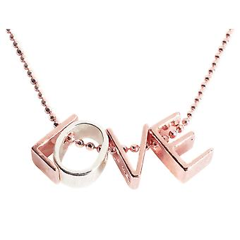 Ah! Jewellery Love Necklace 45cm 18K Rose Gold Sterling Silver Chain