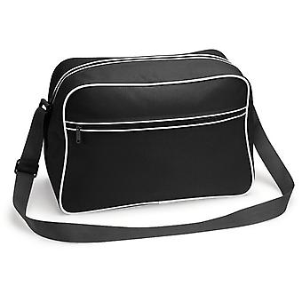 Retro Shoulder Bag - svart/vit