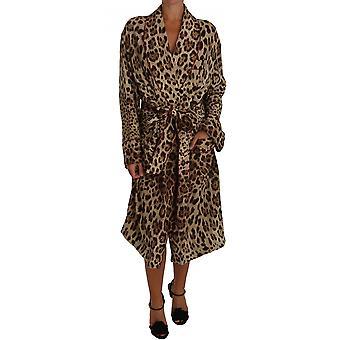 Dolce & Gabbana Leopardo Estampado Robe Kimono Vestido