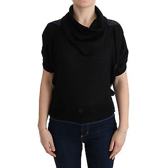 Costume National Black Turtleneck Wool Blouse