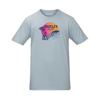 Hurley Beachside Short Sleeve T-Shirt em Lt Armory Blue