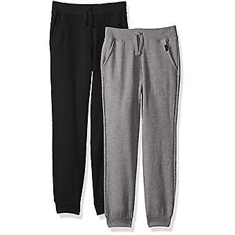 Lee Little Boys' 2Pack Fleece Jogger, Black/Grey, Large
