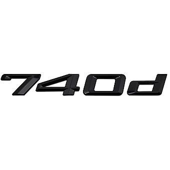 Gloss Black BMW 740d Car Model Rear Boot Number Letter Sticker Decal Badge Emblem For 7 Series E38 E65 E66E67 E68 F01 F02 F03 F04 G11 G12