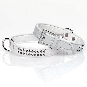 Mgz Alamber Collar Diamantes 2 Filas Blanco 25 X 2 Cm