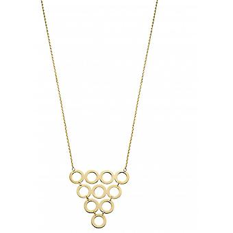 Elements Gold 9ct Yellow Gold Multi Circle Necklace GN343