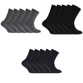 FLOSO Childrens/Kids Plain School Socks (Pack Of 5)