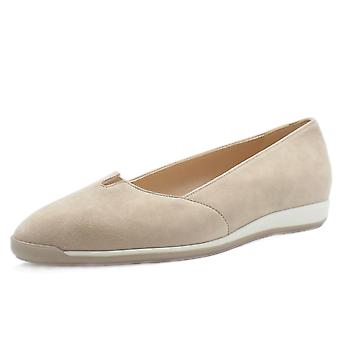 Peter Kaiser Valera Women's Smart Low Wedge Shoes In Sand Suede