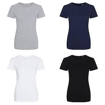 AWDis Мужская/Женская девочка Slub T рубашка