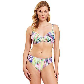 1205555-16397 Femmes-apos;s Stripe Multicolored Underwired Bikini Set