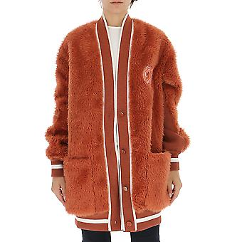 Off-white Owea177e19e65119b4b4 Women's Brown Wool Cardigan