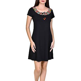 Lisca 49394-02 Women's Haiti Black Aztec Kaftan Beach Dress