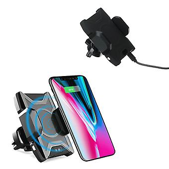 Bakeey infrared induction auto lock qi wireless charging car holder stand for iphone mobile phone