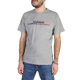 Napapijri Original Men Spring/Summer T-Shirt - Grey Color 39436