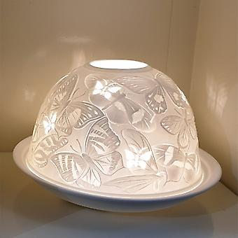 Nordic Lights Butterfly Tealight Candle Shade & Tray