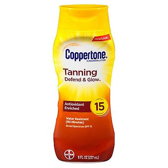 Coppertone tanning sunscreen lotion, spf 15, 8 oz