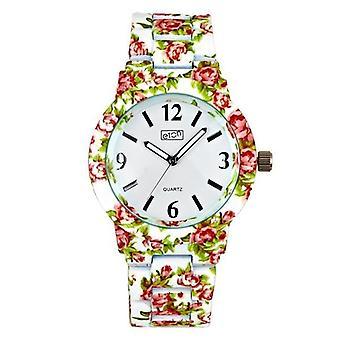 Eton White Chintz Floral Print Bracelet Fashion Watch 3174J-WT