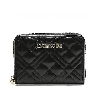 Moschino Love Moschino Quilted Zip Around Wallet