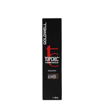 Goldwell Top Chic 6MB Jade Brown Cool Browns Mid Permanent Hair Color 60ml