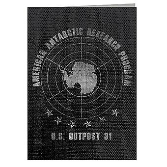The Thing American Antarctic Research Program Greeting Card