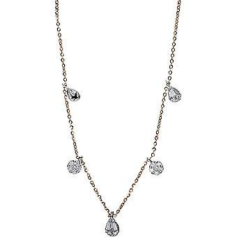 Diamond Collier Collier - 18K 750/- Yellow Gold/White Gold - 0,63 ct. - 4E184RW8-1