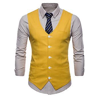 Allthemen Men's Suit Vest Thin Four Seasons Casual Suit Vest 9 Colors Available