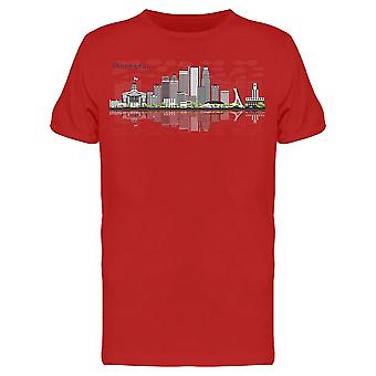 Montreal Skyline W/Shadow Tee Men's -Bild von Shutterstock Men's T-shirt