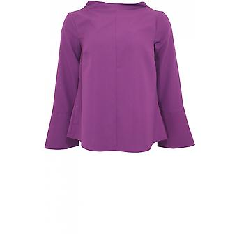 Bianca Purple Bell Sleeve Blouse