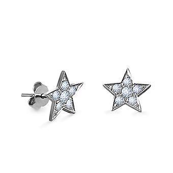Cercei Star 18K Aur și Diamante