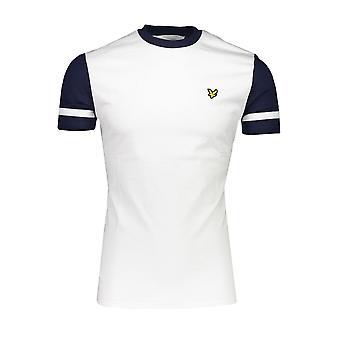 Lyle & Scott | Ts1221v 626 Kontrastærme Crew Neck T-shirt - Hvid