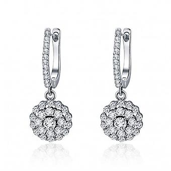 Silver Earrings Circle Drop - 6542