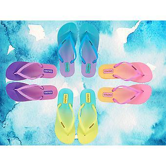 Coloko Ti Anatomic Ombre Dip Dye Two Tone Flip Flops Sandals